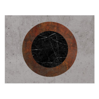 Concrete, Rusted Iron, and Black Marble Abstract Postcard
