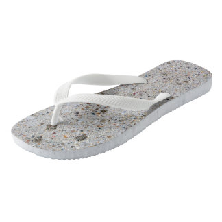 Concrete Surface Photo Flip Flops