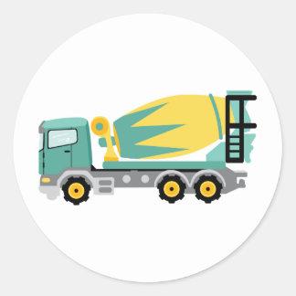 Concrete Truck Classic Round Sticker