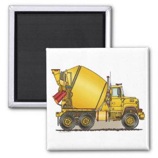 Concrete Truck Square Magnet