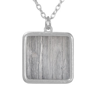 Concrete Wood Silver Plated Necklace