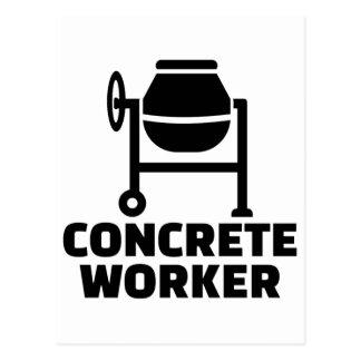 Concrete worker postcard