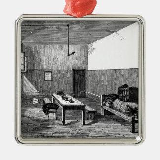 Condemned Cell Newgate Silver-Colored Square Ornament