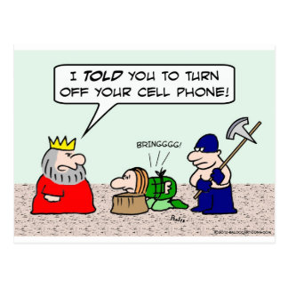 Condemned prisoner must turn cell phone off. postcard