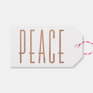 Condensed Peace Christmas Gift Tag