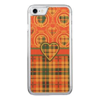 Condie clan Plaid Scottish kilt tartan Carved iPhone 8/7 Case