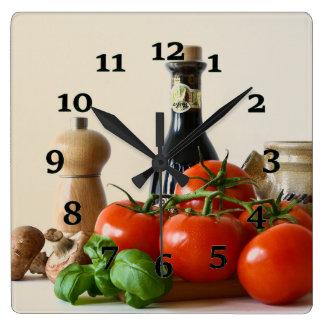 Condiments Square Wall Clock