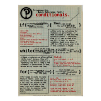 """""""Conditionals in Programming"""" Poster"""