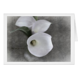 Condolence Card with Callas