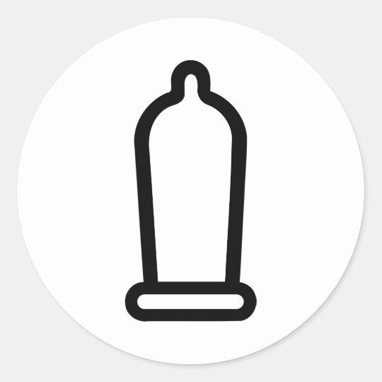 Condom Classic Round Sticker