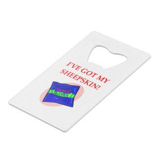 CONDOM CREDIT CARD BOTTLE OPENER