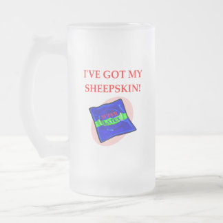 CONDOM FROSTED GLASS BEER MUG