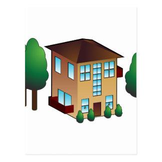 Condominium Apartment Icon Postcard