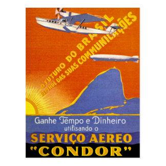 Condor ~ Brazillian Air Service Postcard