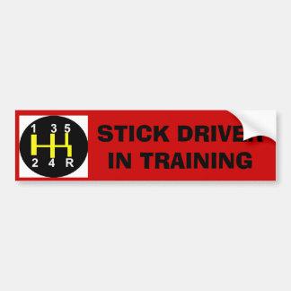 Conducteur de bâton dans la formation autocollant de voiture