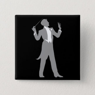 Conductor 2 Inch Square Button