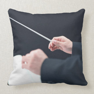 Conductor 2 throw pillow