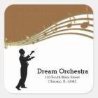 Conductor Orchestra Square Sticker