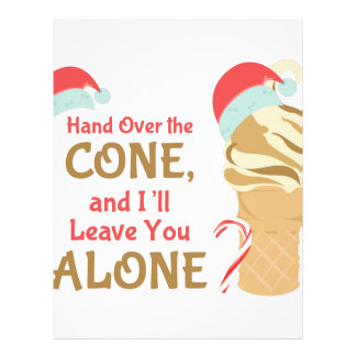 Cone Alone Letterhead Design