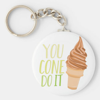 Cone Do It Basic Round Button Keychain