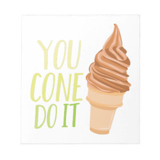 Cone Do It Notepads