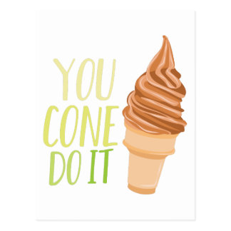 Cone Do It Postcard