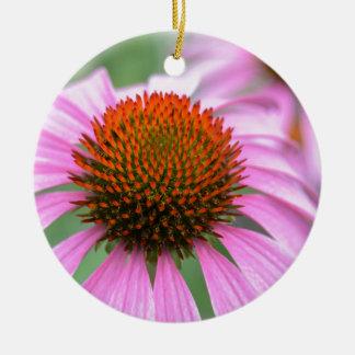 Cone flower ceramic ornament