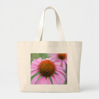 Cone flower large tote bag