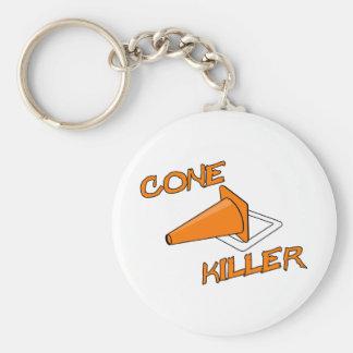 Cone Killer Basic Round Button Keychain