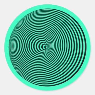 Cone Moire: Optical Illusion Hypnotic Spiral Classic Round Sticker