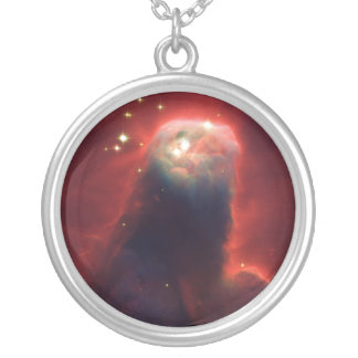 Cone Nebula NGC 2264 Taken by the Hubble Telescope Silver Plated Necklace