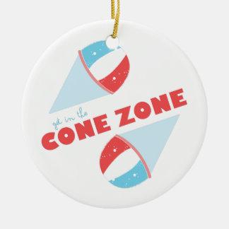 Cone Zone Round Ceramic Ornament