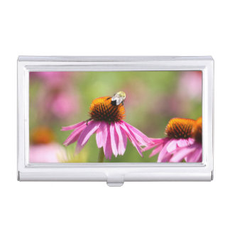 Coneflower and Honey Bee Business Card Holder