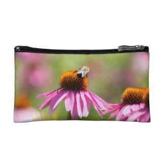 Coneflower and Honey Bee Makeup Bag