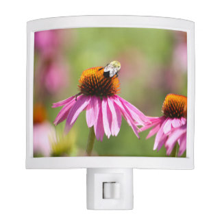 Coneflower and Honey Bee Night Light