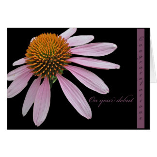 Coneflower Debut Congratulations Items Card