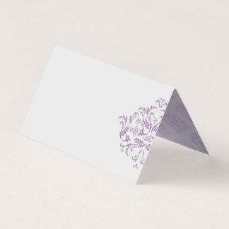 Coneflower elegant Damask Blank Place Cards