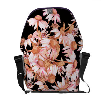 Coneflower Floral Flower Rickshaw Messenger Bag