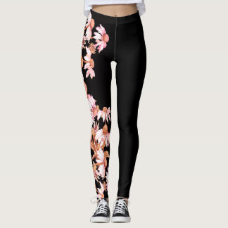 Coneflower Flowers All Over Print Leggings