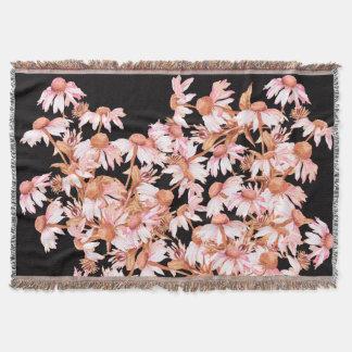 Coneflower Flowers Throw Blanket