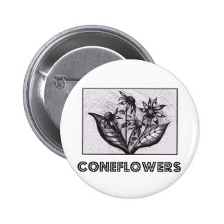 Coneflowers 2 Inch Round Button
