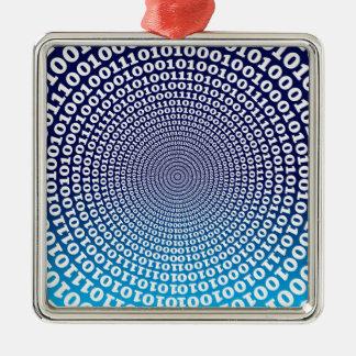 Conentric Binary Metal Ornament