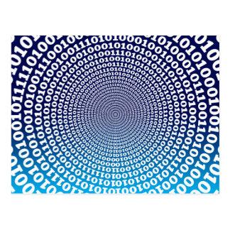 Conentric Binary Postcard