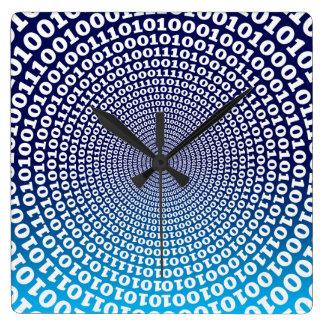 Conentric Binary Square Wall Clock