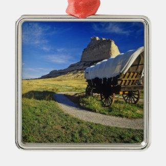 Conestoga wagon at Scottsbluff National Metal Ornament