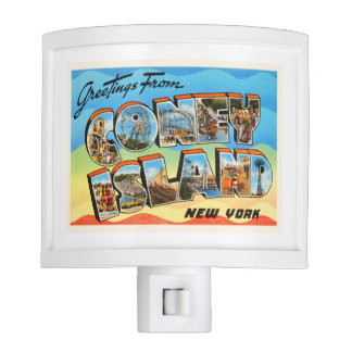 Coney Island #2 New York NY Old Travel Souvenir Nite Light