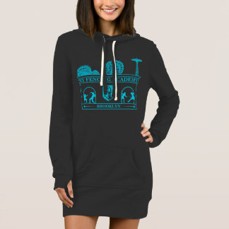 Coney Island BK NY Fencing Women's Long Hoodie