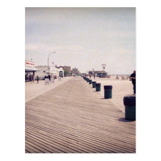 Coney Island Boardwalk Postcard