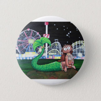 Coney Island Mermaid 2 Inch Round Button