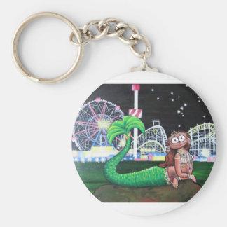 Coney Island Mermaid Basic Round Button Keychain